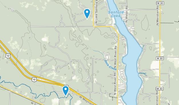 Sanford, Michigan Map