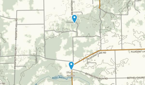 Sharon Hollow, Michigan Map