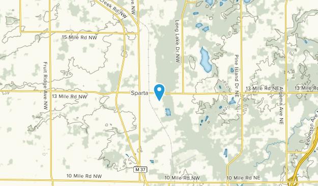 Sparta, Michigan Map