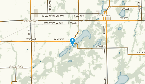 Vicksburg, Michigan Map