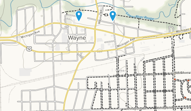 Wayne, Michigan Map
