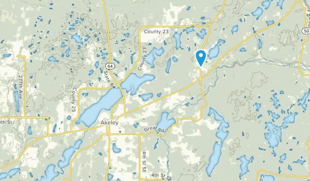 Akeley, Minnesota Map