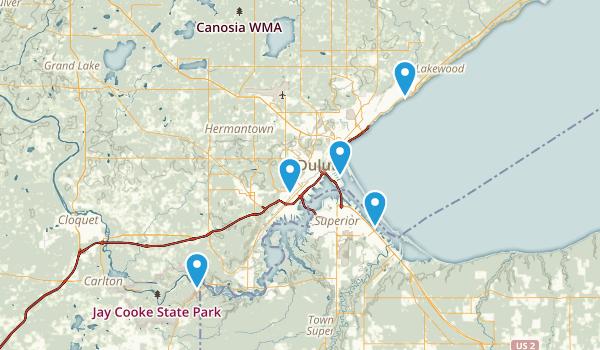 Best Trails Near Duluth Minnesota AllTrailscom - Duluth mn us map