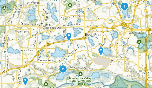 Eden Prairie, Minnesota Map