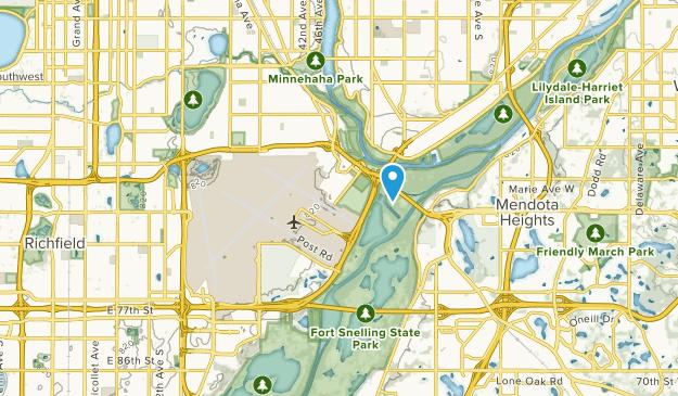 Fort Snelling, Minnesota Map