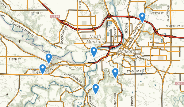 Mankato, Minnesota Map