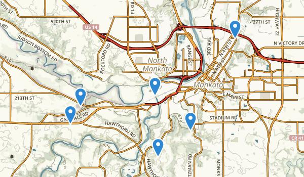 Mankato, Minnesota Map