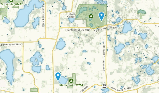 Maple Lake, Minnesota Map