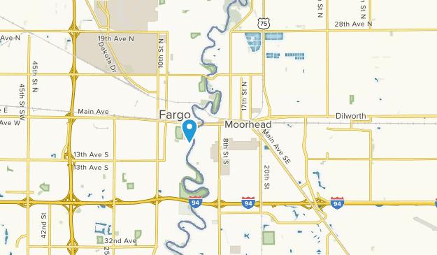 Moorhead, Minnesota Map
