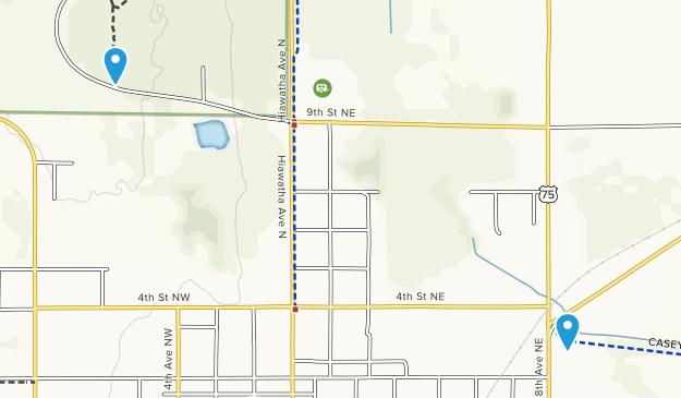 Pipestone, Minnesota Map