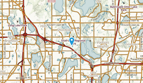 Shoreview, Minnesota Map