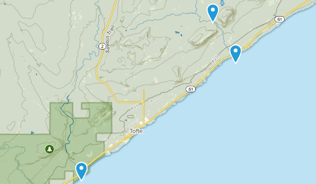 Tofte, Minnesota Map