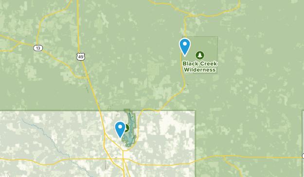 New Augusta, Mississippi Map
