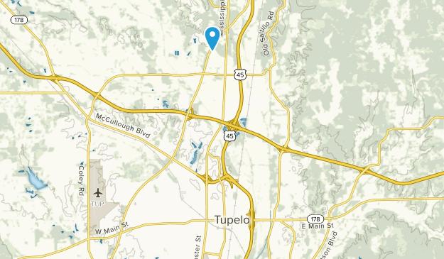 Tupelo, Mississippi Map