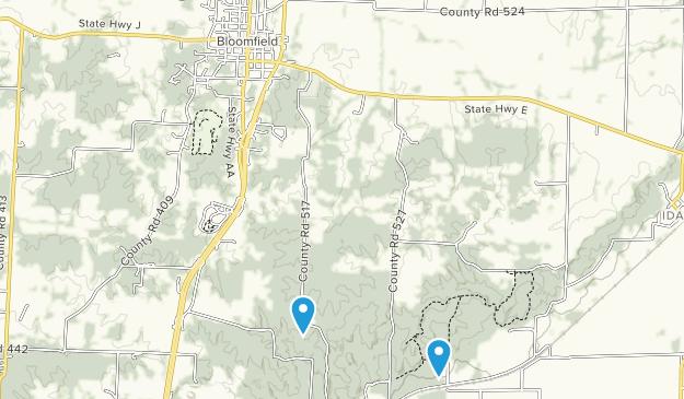 Bloomfield, Missouri Map