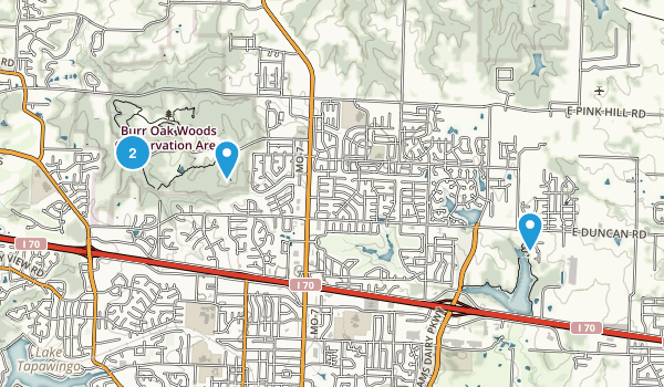 Blue Springs, Missouri Map