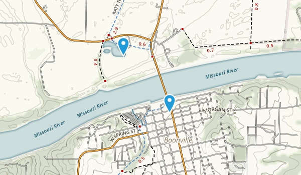 Boonville, Missouri Map
