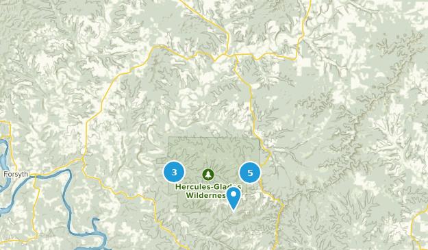 Bradleyville, Missouri Map
