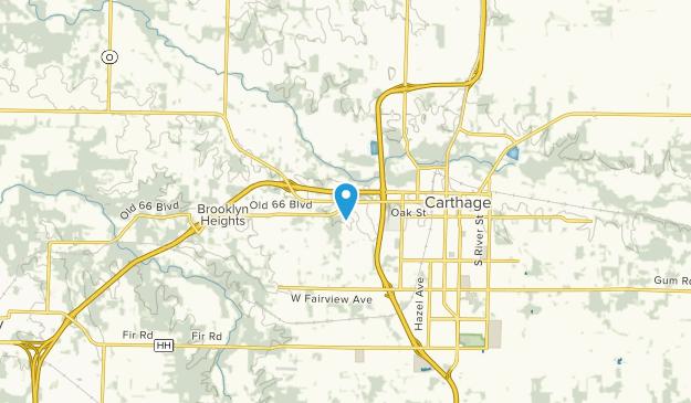 Carthage, Missouri Map