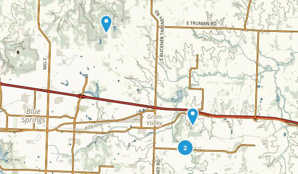Grain Valley, Missouri Map