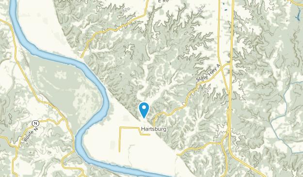 Hartsburg, Missouri Map