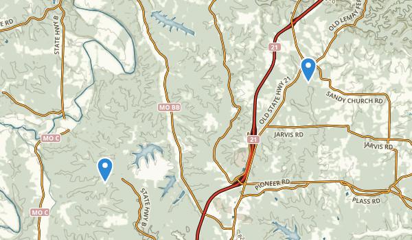 Hillsboro, Missouri Map