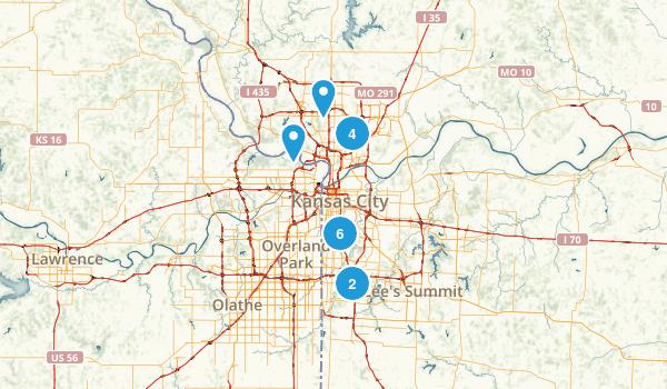 Best Trails Near Kansas City Missouri Photos Reviews - Kansas city on us map