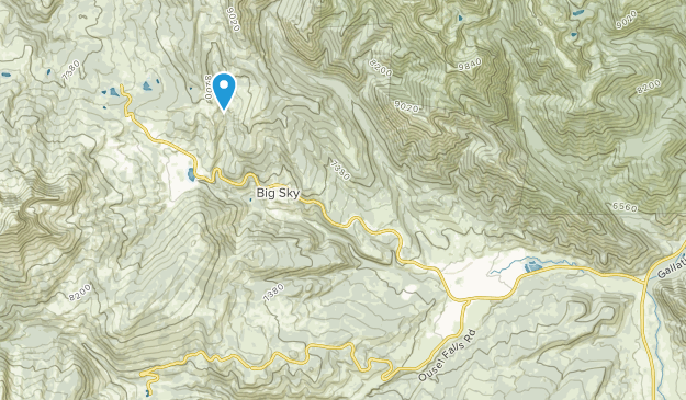 Big Sky Mountain Village, Montana Map