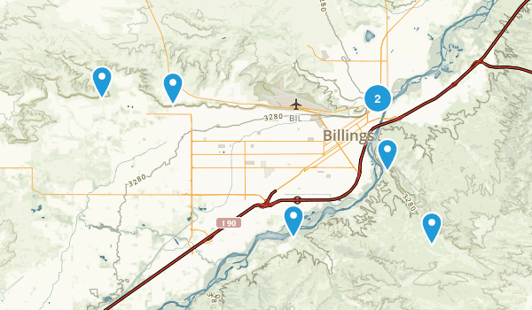 Billings, Montana Map