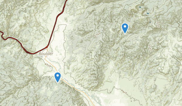 trail locations for Boulder, Montana