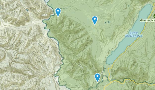 Columbia Falls, Montana Map