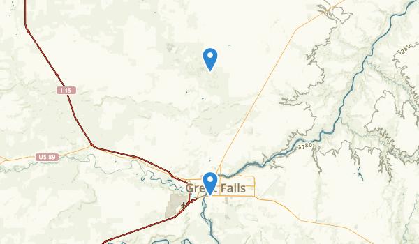 Great Falls, Montana Map