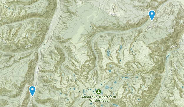 Mc Leod, Montana Map