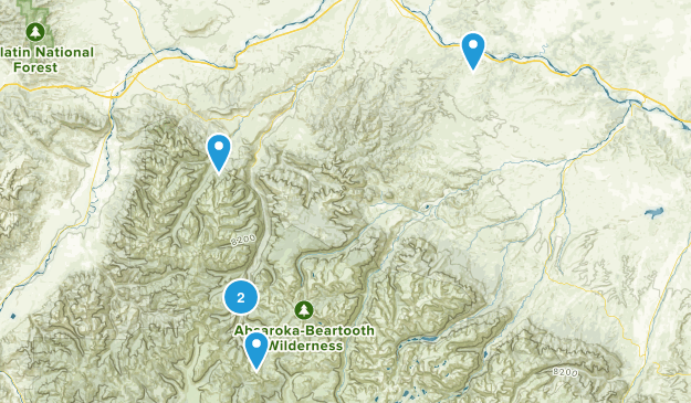 McLeod, Montana Map