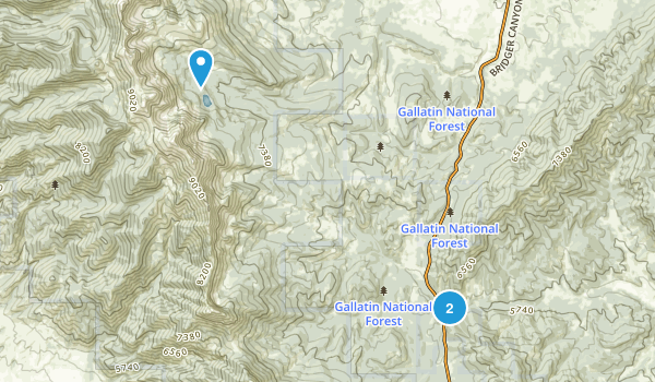 Sedan, Montana Map