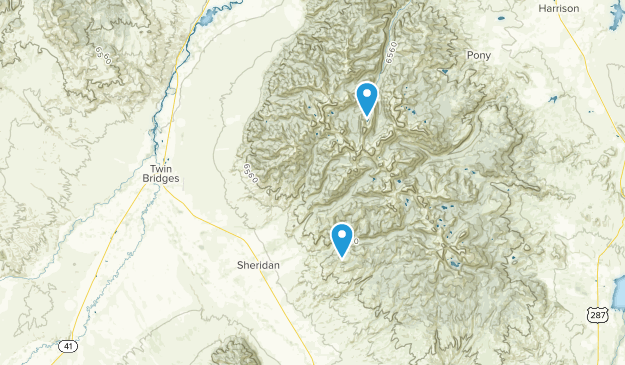 Sheridan, Montana Map