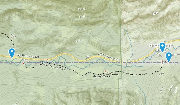 Silver Gate, Montana Map