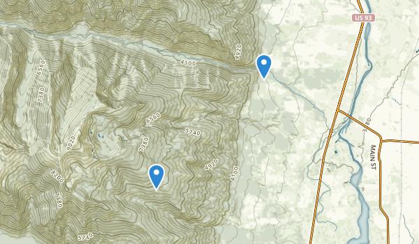 Stevensville, Montana Map
