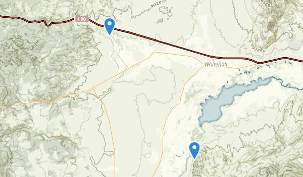 Whitehall, Montana Map