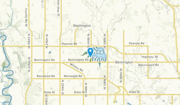 Bennington, Nebraska Map