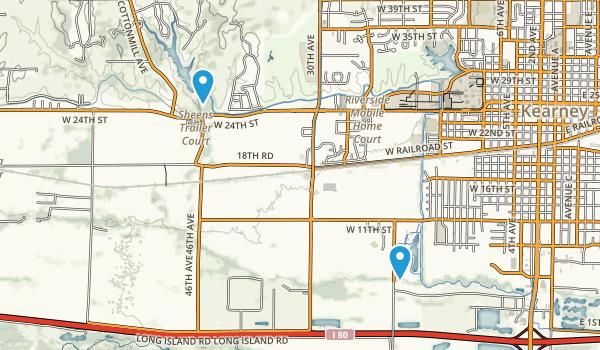 Kearney, Nebraska Map