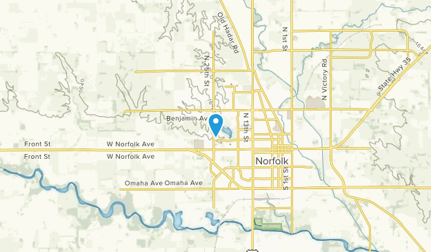 Norfolk, Nebraska Map