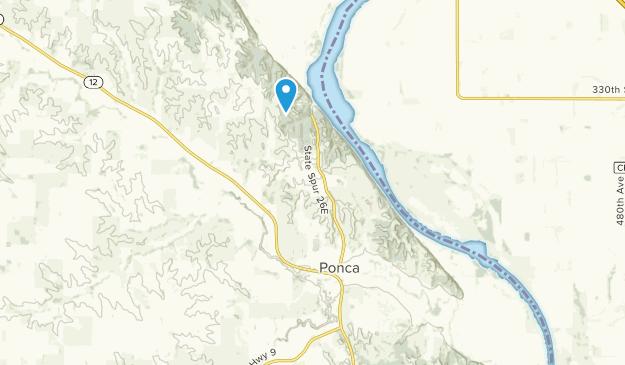 Ponca, Nebraska Map