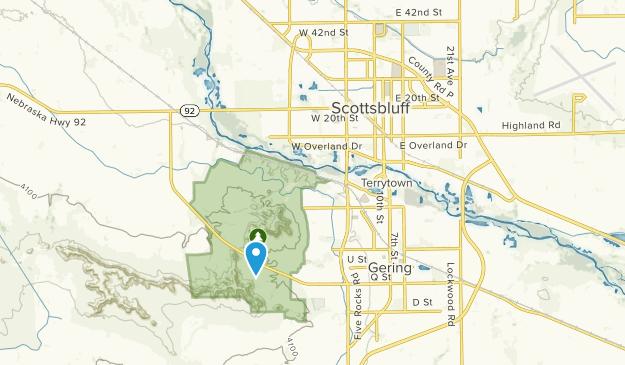 Scottsbluff, Nebraska Map