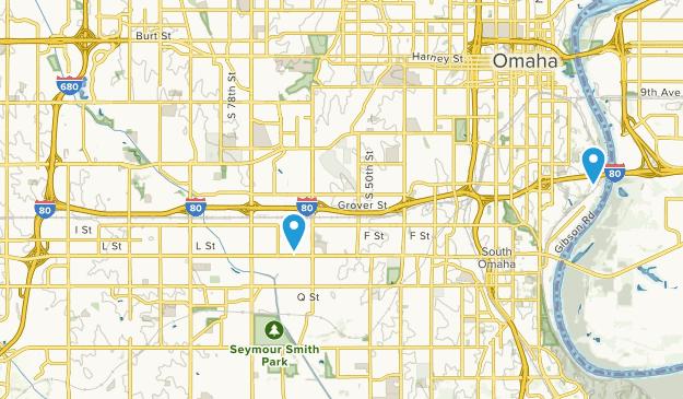 South Omaha, Nebraska Map