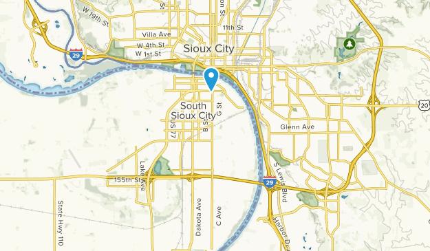 South Sioux City, Nebraska Map