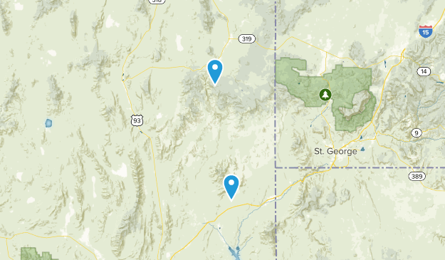 Caliente, Nevada Map