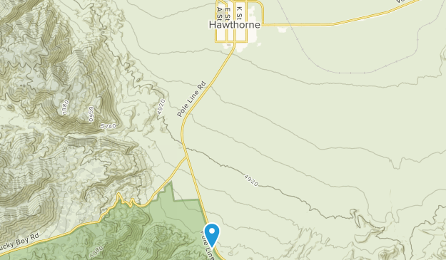 Hawthorne, Nevada Map