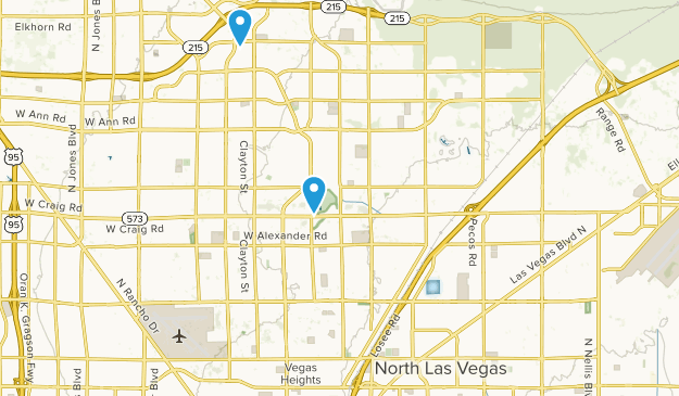 North Las Vegas, Nevada Map