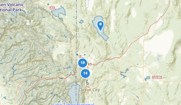 trail locations for Reno, Nevada